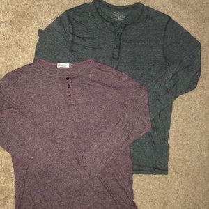 Bundle of 2 men's long sleeve